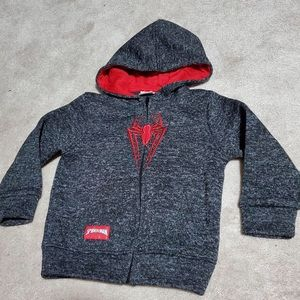 5T Spider-Man zip up Hooded Sweater